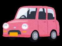 ピンクの軽自動車